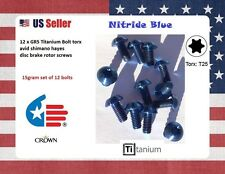 12 X Ti titanium  Bolts Blue NITRIDE M5 x 10 Torx Head  disc brake rotor screws