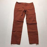 "The Limited Ideal Stretch Orange Skinny Pants Crop Raw Hem Sz 0 24"" Inseam A936"