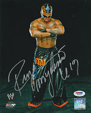 REY MYSTERIO SIGNED AUTO'D 8X10 PHOTO PSA/DNA COA WWE ECW WCW AAA LUCHA MASK F