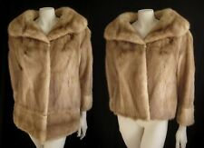 Convertible Autumn Haze Honey PASTEL Brown MINK Fur Coat Jacket  ~ 2 coats in 1