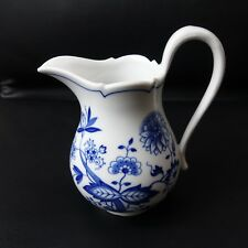 Hutschenreuther China Blue Onion Floral Creamer Germany