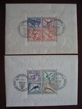 DR 1936 Olympische Spiele: Block 5-6 mit Ersttagsstempel (D775)