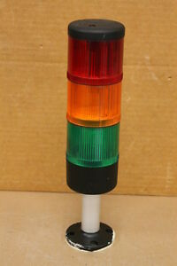 TELEMECANIQUE XVAL3C 3 STACK LIGHTS AND BASE (RED/ORANGE/GREEN)