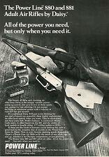 1974 Print Ad of Daisy Power Line 880 & 881 Adult Air Rifles BB & Pellet Gun