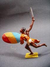 """G M figurine plomb creux """" africain bouclier """""""
