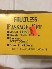 Faultess Passage Lock Lever Set For Rvs Nickle In Color