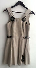 Damen Trachten Kleid ärmellos Leinen grau Gr. 34 v. Reseder