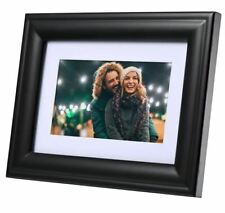 "Polaroid 7"" Digital Photo Picture Wood Frame LED Screen Black - LIKE NEW™"