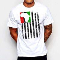 African Kente Flag T-Shirt Colin Kaepernick Black Panther Wakanda Stay Woke Tee