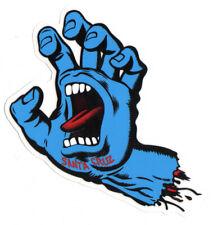 Santa Cruz Screaming Hand Skateboard Sticker Blue - Jim Phillips skate 15cm