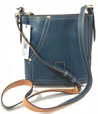 Dooney & Bourke~Huntington Florentine Leather Letter Carrier~Denim~A237844~070