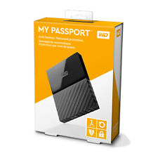 "Western Digital My Passport 1 TB, Extern, 2.5"" (WDBHDK0010BBK-EESN) Tragbare Festplatte"