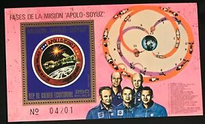 Equatorial Guinea #MiBl181 MNH S/S CV€7.00 Apollo Soyuz Slayton Leonov
