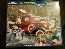 White Mountain Puzzles Santa Truck Ford 1000 Piece Jigsaw 2015 Larger Pieces USA
