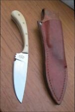 BEAUTIFUL Vintage Custom Carbon Steel Hunting or Caping Knife w/Micarta Handles