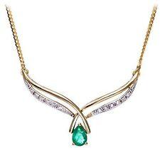 Emerald Yellow Gold Fine Diamond Necklaces & Pendants