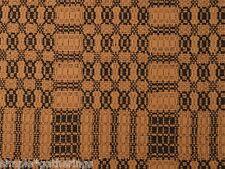 "BLACK / DEEP MUSTARD WOVEN TABLE RUNNER 32"" x 14"" Cotton-Acrylic - Primitive"