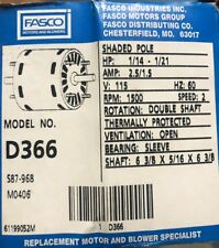Fasco D366  Window Air Conditioner Motor, 1/14 HP, 1550 RPM, 115V S87-968