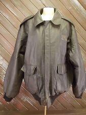 Waste Management WearGuard Coat Jacket Leather Brown  Zip Men's Size XL