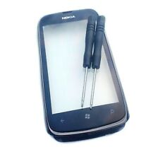 Nokia 610 Lumia Digitizer Touch Screen Front Glass Lens + Frame Grey + Frame