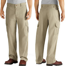 Dickies Work Pants Mens Relaxed Fit Straight Leg Cargo Pocket Duck Pant DD113