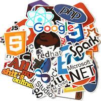 50 Pcs Java Internet Bitcoin Html JS Php Docker Cloud Programming Logo Stickers