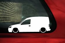 2x Lowered car stickers auto aufkleber - for Opel Combo C van | tuning
