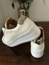 PARK UP Flatform Laceless Sneaker.White.Size UK 3