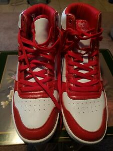 Pony City Wings HI Chevron High Top Sneakers Shoes Red White PP1CWHI