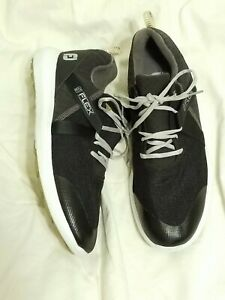 Footjoy FJ Flex Men's Spikeless Golf Shoes Black Size 12 M Model 56103