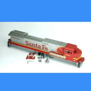 SANTA FE #690 C44-9W SHELL  With PARTS  ATHEARN HO SCALE