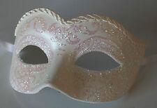 original venezianische Maske Augenmaske Karneval, Handmade Fasching Weiß