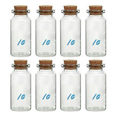 8 Pcs 10ml Small Glass Vials With Cork Tops Bottles Little Empty Jars Spices