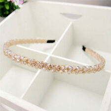 Fashion Champagne Crystal Headband Womens Handmade Beads Hair Band Accessory