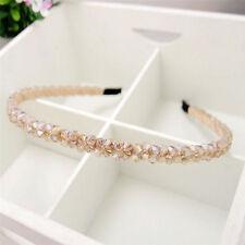 1pc Fashion Champagne Crystal Headband Womens Handmade Beads Hair Band Accessory