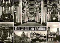 Kirchen Motiv-Postkarte Kirche Dom zu Passau Bayern Mehrbild-AK  s/w ~1960