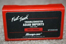 Snap-on 2000 Asian Imports Troubleshooter Cartridge Software MT2500 MTG2500