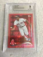 2014 Topps Red Foil #133 Xander Bogaerts BGS 9 Original Rookie Card Red Sox