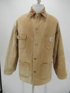 M1226 VTG Carhartt Men's Blanket Lined Duck Chore Coat Made in USA Size 44 Tall