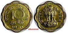 India-Republic PROOF 1970 B 10 Paise Mintage-3,046 Mumbai Mint KM# 26.3