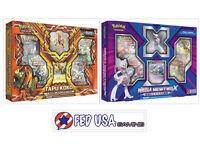 Tapu Koko Figure Collection & Mega Mewtwo X Box POKEMON TCG 8 Booster Packs