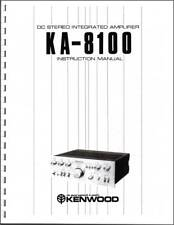 Kenwood KA-8100 Integrated Amplifier Owners Manual