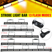 18/23/27/31/35 inch Car LED Light Bar Emergency Warning Flash Strobe Lamp
