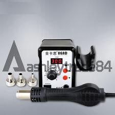 220v Digital Electronic Hot Air Heat Gun 868d Smd Rework Solder Station3 Nozzle