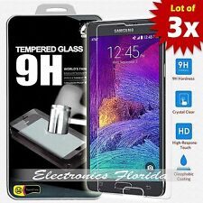 [3X Package] for Samsung Galaxy Note 4 Real Tempered Glass Screen Protector A+