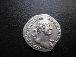 COINS ROMAN  HADRIAN SILVER DENARIUS  AD 117 - 138  EF