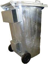 Mülltonne / Müllgroßbehälter Stahl / verzinkt 120 liter mit Staplertaschen