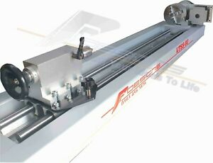 100mm CNC Router Rotary Axis, A-axis, 4th-axis