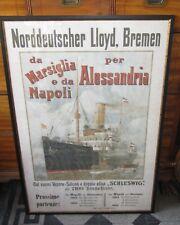 Manifesto navale NORDDEUTSCHE LLOYD BREMEN in ITALIANO