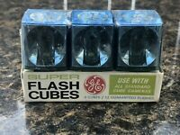 NEW VINTAGE 3 pack Flash bulbs cubes GE General electric 12 flashes